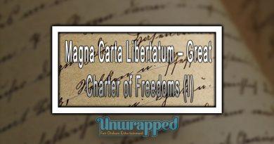 Magna Carta Libertatum – Great Charter of Freedoms (I)