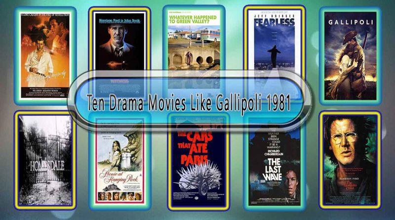 Ten Drama Movies Like Gallipoli (1981)
