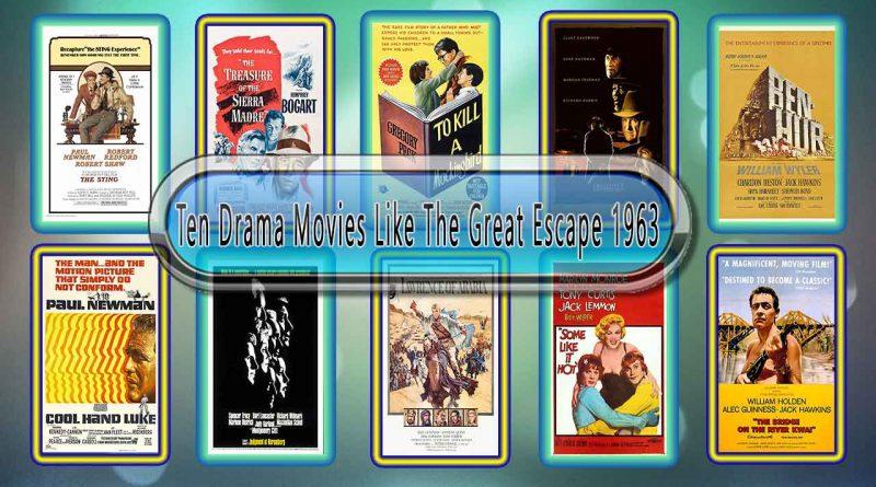 Ten Drama Movies Like The Great Escape 1963
