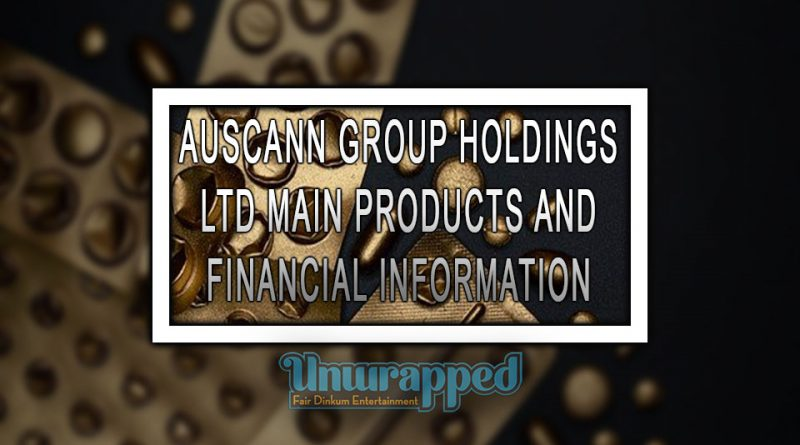 AUSCANN GROUP HOLDINGS LTD MAIN PRODUCTS AND FINANCIAL INFORMATION
