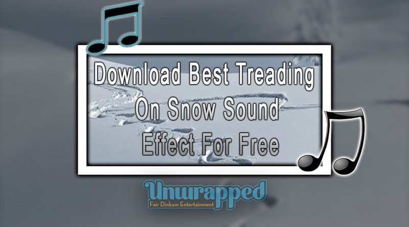 Download Best Treading On Snow Sound Effect For Free