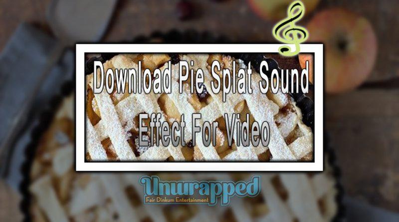 Download Pie Splat Sound Effect For Video