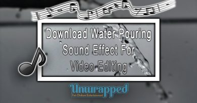 Download Water Pouring Sound Effect For Video Editing