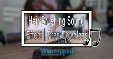 Hair Brushing Sound Effect|Free Download