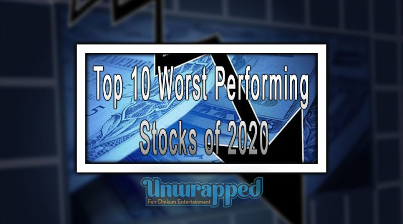 Top 10 Worst Performing Stocks of 2020