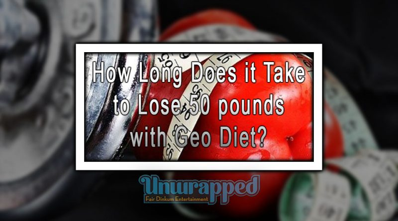 How Long Does it Take to Lose 50 pounds with Geo Diet?