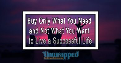 Buy Only What You Need and Not What You Want to Live a Successful Life