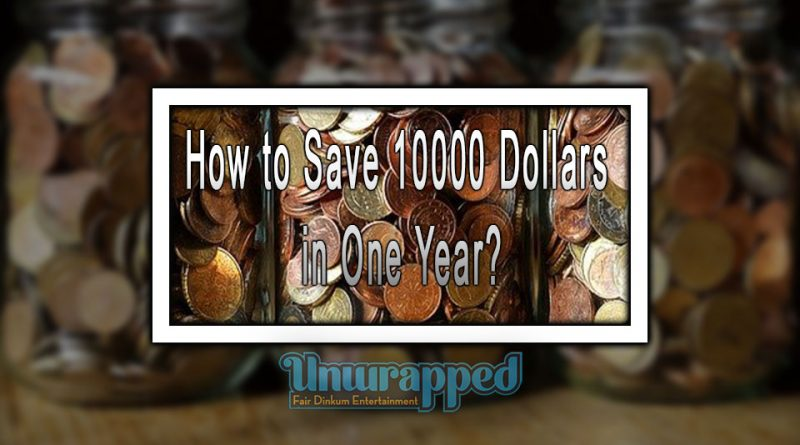 How to Save 10000 Dollars in One Year?