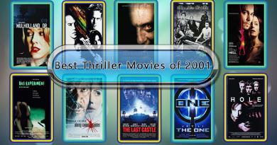 Best Thriller Movies of 2001