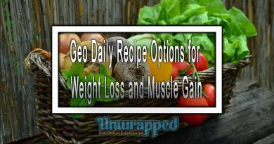 Geo Daily Recipe Options for Weight Loss and Muscle Gain