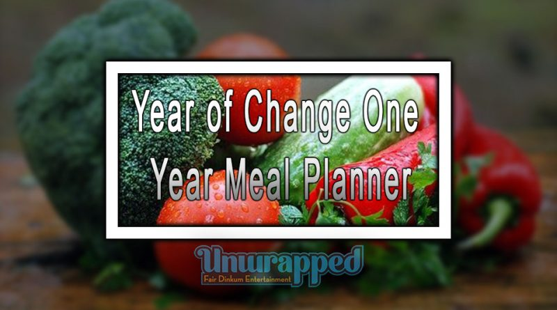 Year of Change One Year Meal Planner