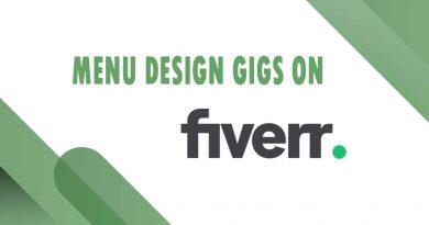 The Best Menu Design on Fiverr