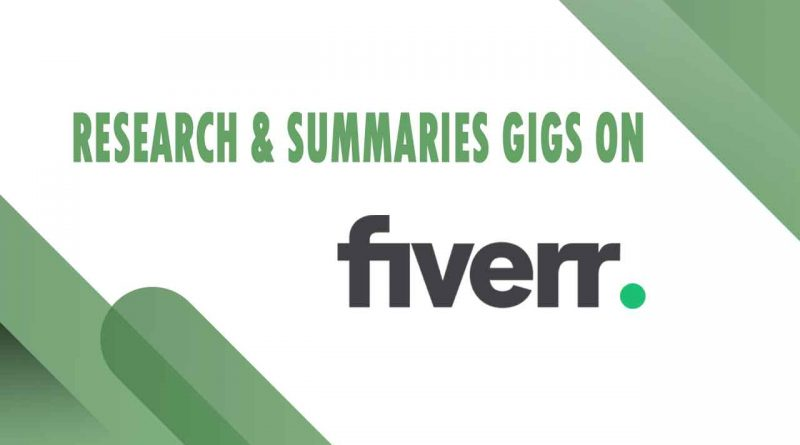 The Best Research & Summaries on Fiverr