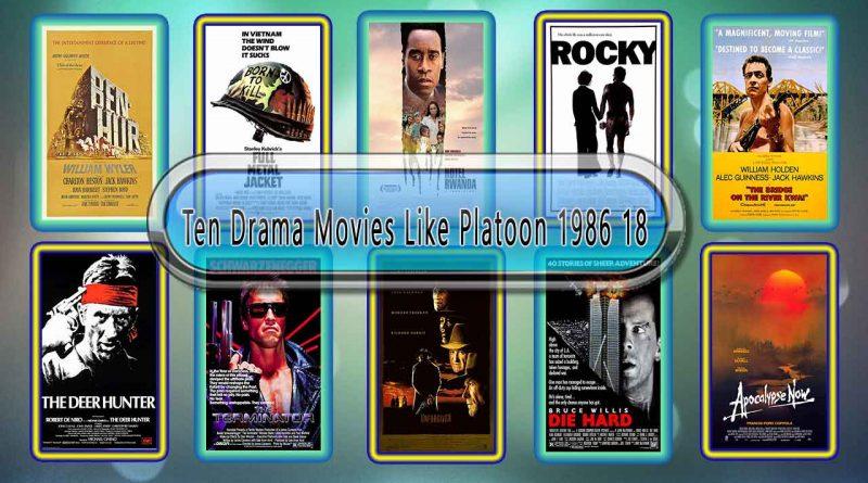 Ten Drama Movies Like Platoon (1986)