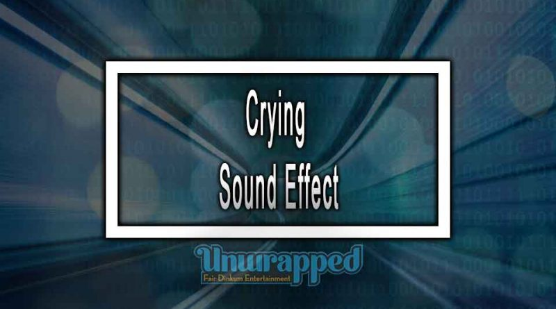 Crying Sound Effect