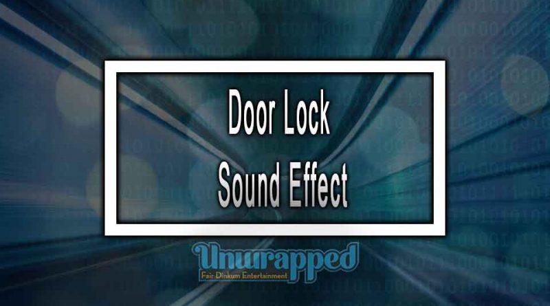 Door Lock Sound Effect