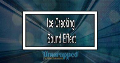 Ice Cracking Sound Effect