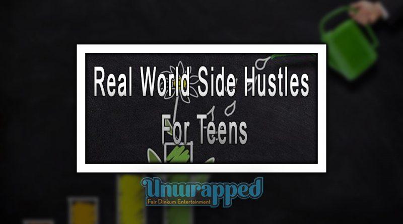 Real World Side Hustles For Teens