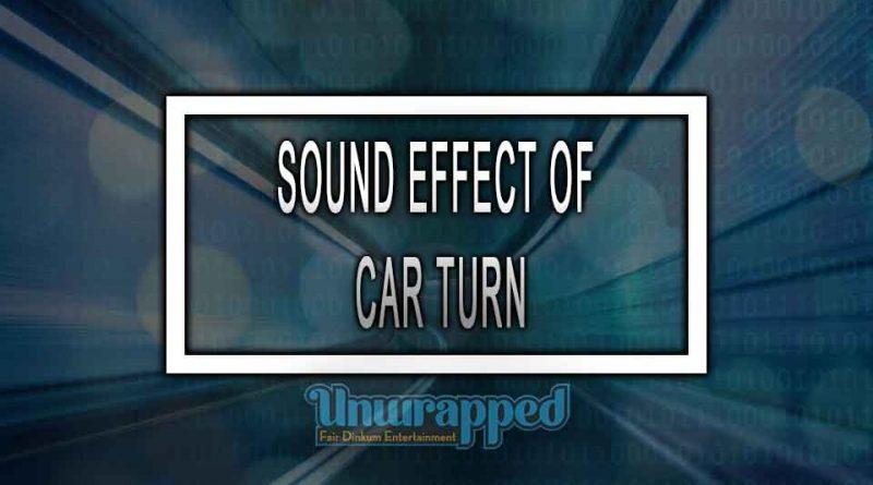 SOUND EFFECT OF CAR TURN