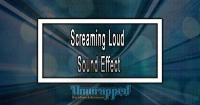 Screaming Loud Sound Effect