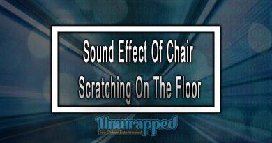 Sound Effect Of Chair Scratching On The Floor