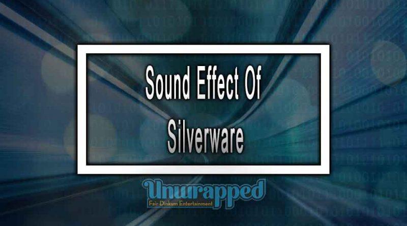 Sound Effect Of Silverware