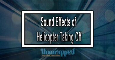 Sound Effects of Helicopter Taking Off