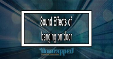 Sound Effects of banging on door