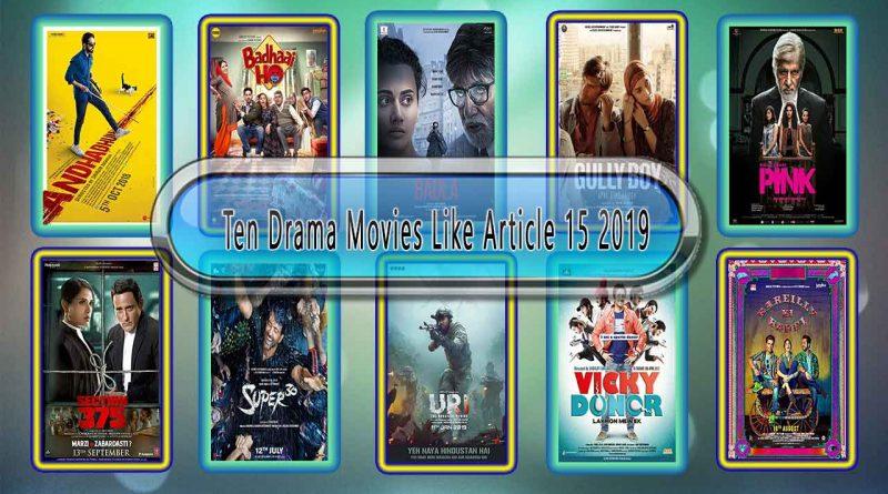Ten Drama Movies Like Article 15 (2019)