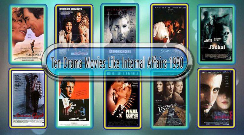 Ten Drama Movies Like Internal Affairs 1990