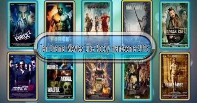 Ten Drama Movies Like Rocky Handsome 2016