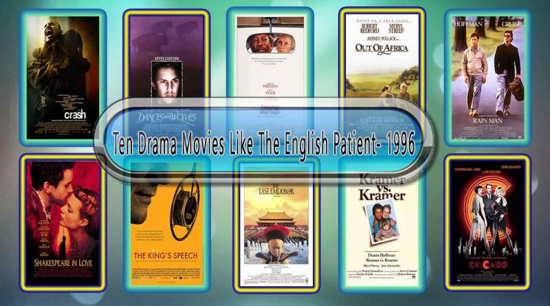 Ten Drama Movies Like The English Patient 1996