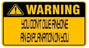 Mandatory New Think Warning Reg: FO99 Day 127