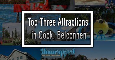 Top Three Attractions in Cook, Belconnen