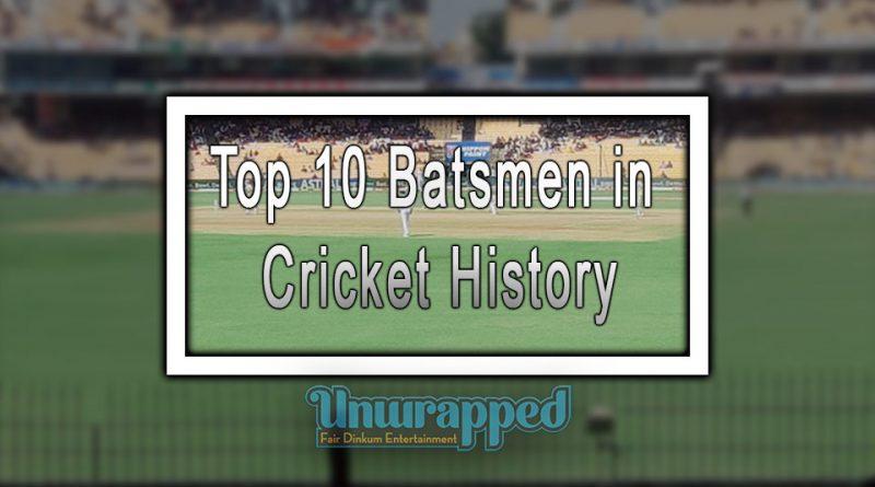 Top 10 Batsmen in Cricket History