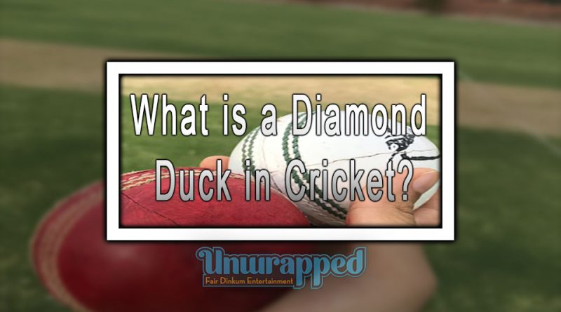 What is a Diamond Duck in Cricket?